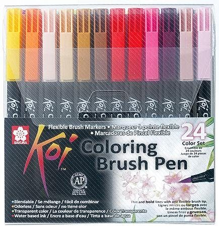 Pinselstift Koi Coloring Brush Set, 24 Farben